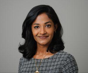 Shobha Venkatraman '06 (BUS) '06 (CLAS) '16 MFA on Dec. 1, 2016. (Peter Morenus/UConn Photo)