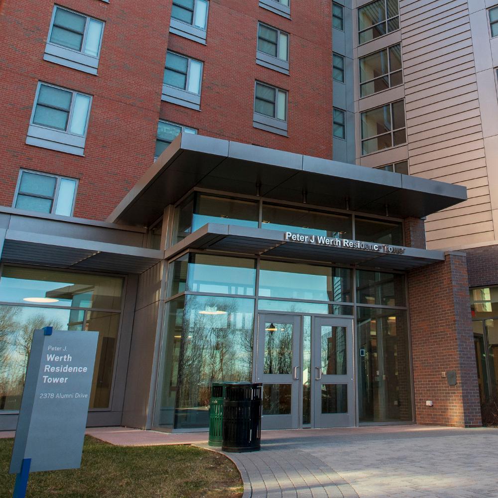 Werth Innovation Center front entrance, Storrs CT